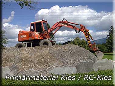 Primärmaterial Kies / RC-Kies